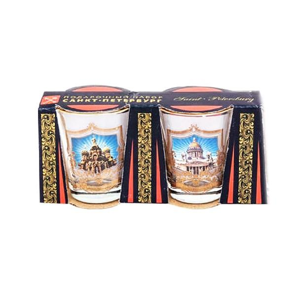 Saint Petersburg Shot Glasses, Set of 2