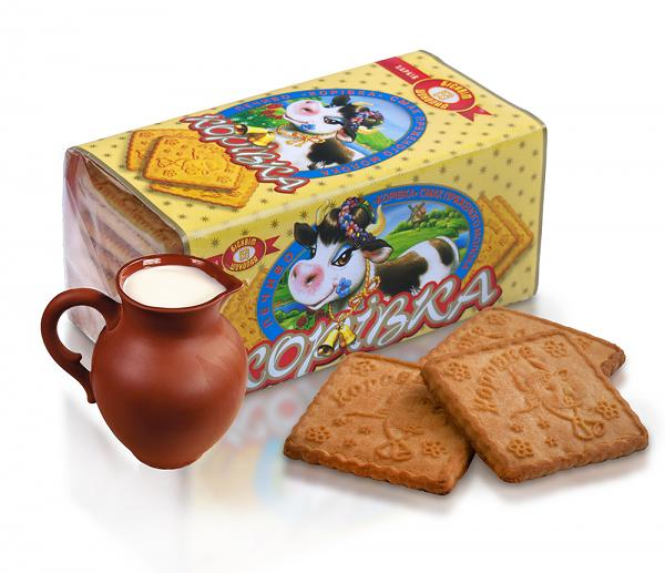 "Cookies ""Korovka"" with Cream Flavor, 6.3 oz/ 180 g"