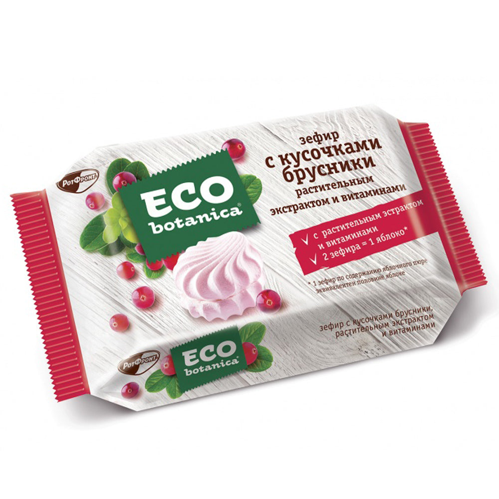 Marshmallows w/ Pieces of Cowberry, ECO BOTANICA, 0.55 lb / 250 g