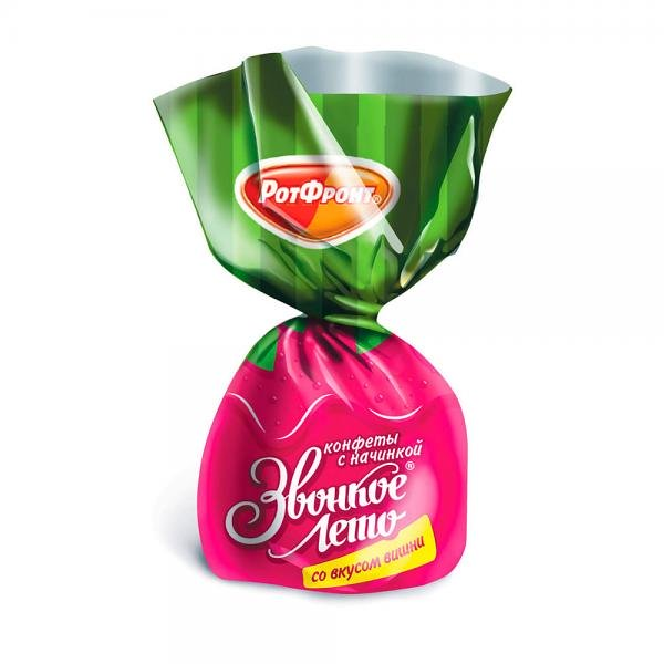 "Chocolate Glazed Candies with Cherry Marmalade ""Zvonkoe Leto"", 0.5 LB / 226 g"