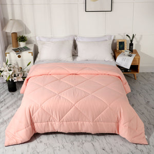All Season 100% Cotton Quilted Comforter (Pink)