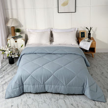 Load image into Gallery viewer, All Season 100% Cotton Quilted Comforter (Grey Blue)