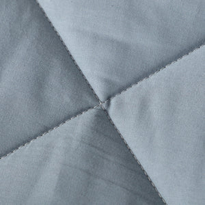 All Season 100% Cotton Quilted Comforter (Grey Blue)