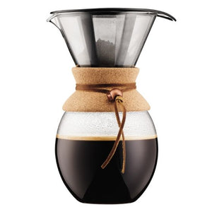 BODUM Pour Over Coffee maker with permanent s/s filter, 8 cup, 1.0 l, 34 oz, Cork