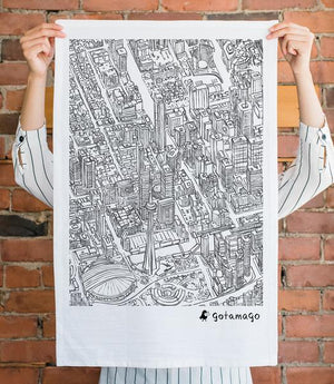 Toronto Lines - Tea Towel