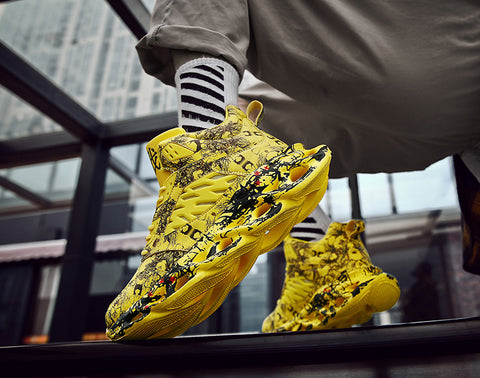 Yellow fashion sneakers mens
