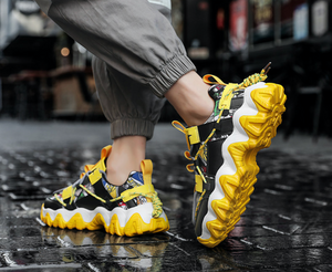 Mens 2020 FASHION  Yellow Sneakers- Belgards luxury mens fashion