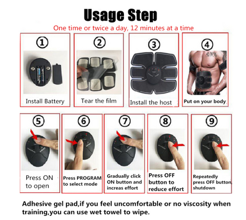 Easy to use abs stimulator