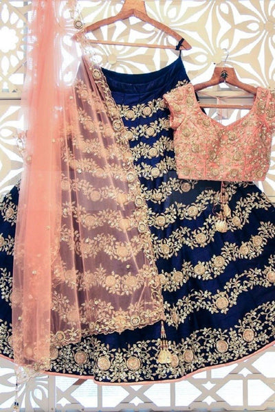 Didi Blue & Peach Impressive Lehenga Choli With Dupatta (BP-152)