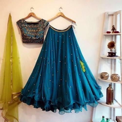 Didi Blue Flaunt Lehenga Choli With Dupatta (BP-164)