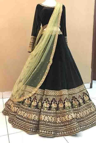 Didi Black Eye-Catching Lehenga Choli With Dupatta (BP-177)