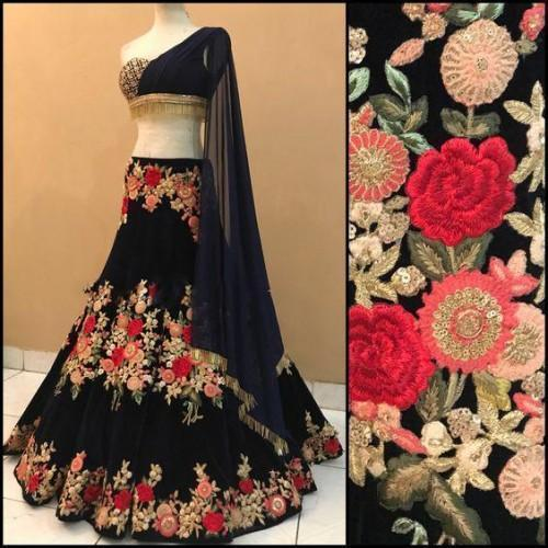 Didi Black Innovative Lehenga Choli With Dupatta (BP-178)