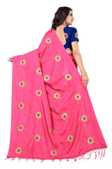 Didi Gajari Eye-Catching Paper Silk Saree With Blouse Piece ( Chakri - Gajari )