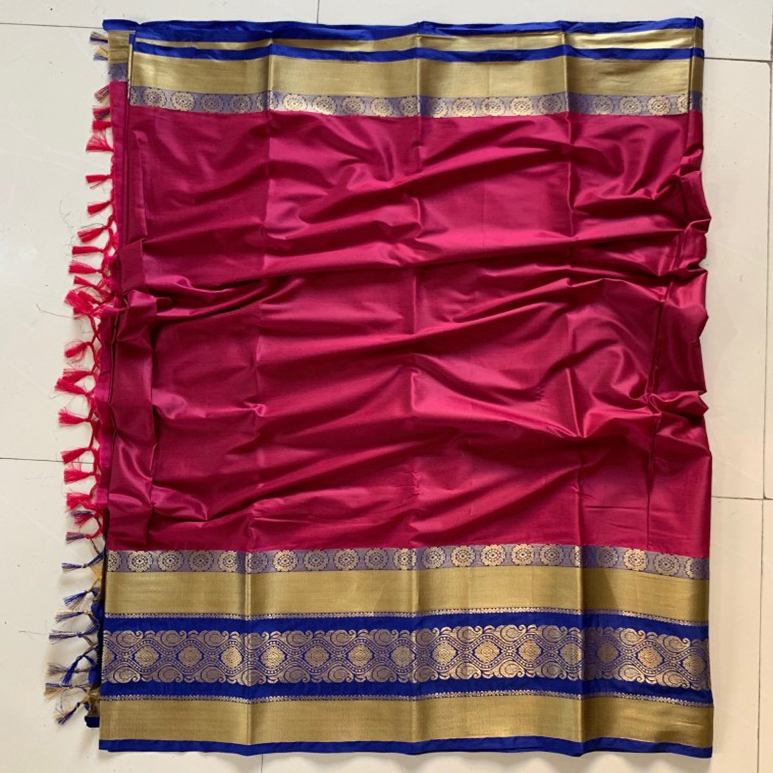 Didi Pink Classy Soft Cotton Silk Saree With Blouse Piece ( Roshni-Pink )