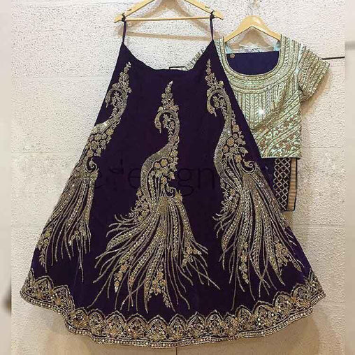 Didi Black Peacock Designer Lehenga Choli With Dupatta (SF-156)