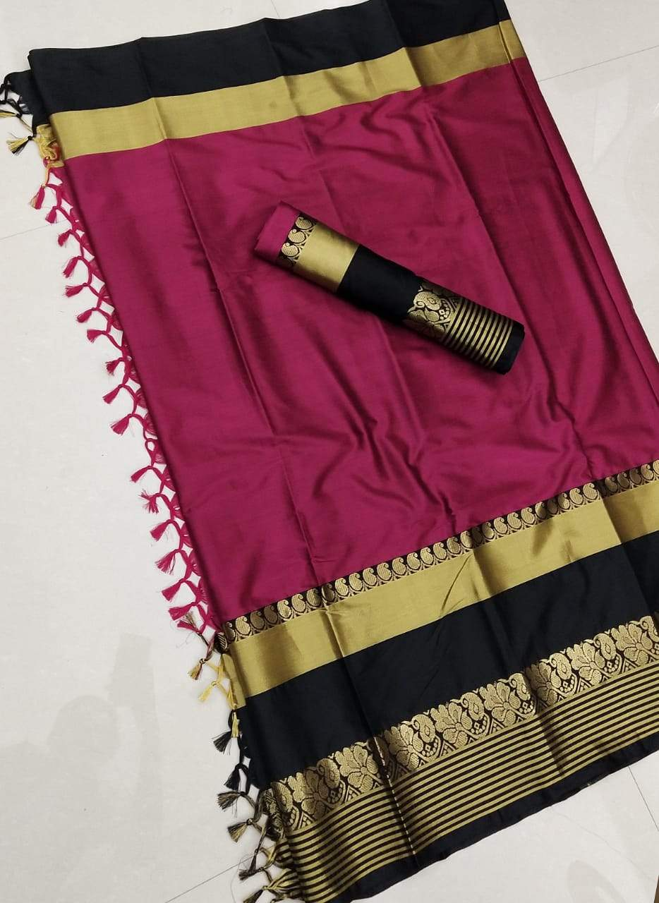 Didi Pink Pleasurable Soft Cotton Silk Saree With Blouse Piece ( Shabanam-Pink )