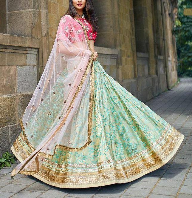 Didi Red & Green Adoring Lehenga Choli With Dupatta (SR-253)