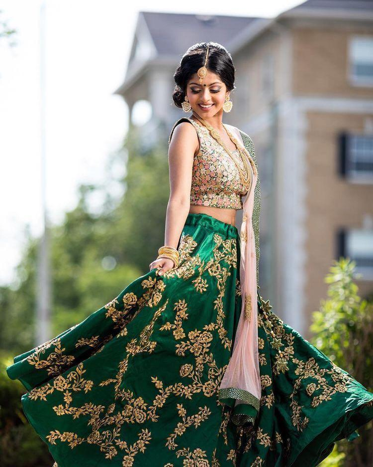 Didi Green Innovative Lehenga Choli With Dupatta (SR-264-A)