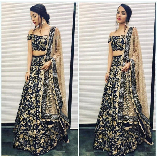 Didi Black & Cream Appealing Lehenga Choli With Dupatta (SR-306)