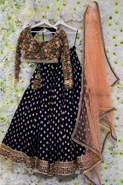 Didi Black & Peach Wonderful Lehenga Choli With Dupatta (SR-338)