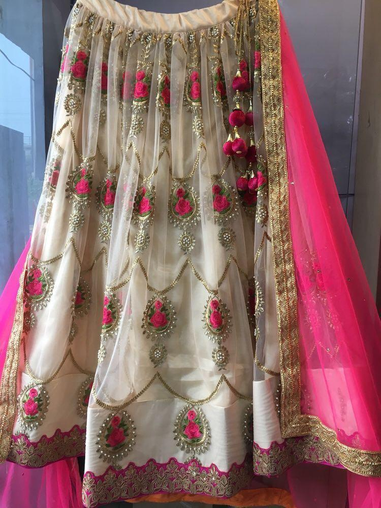 Didi Cream & Pink ModishLehnga Choli With Dupatta (SR-339)