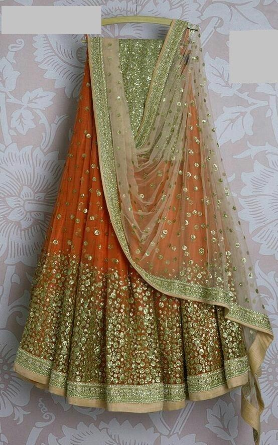 Didi Orange Innovative Lehenga Choli With Dupatta (SR-369)