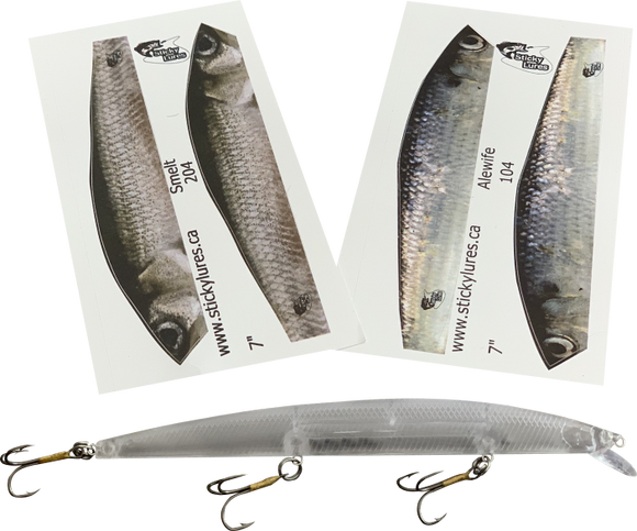 Jerkbait Minnow Stickylures Kit - KAS104
