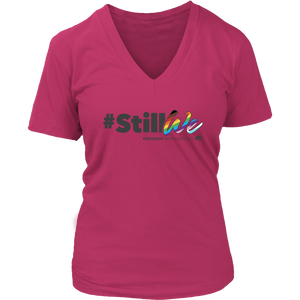 2020 PRIDE Theme StillWe Womens V Neck