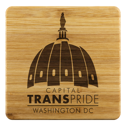 Capital Trans Pride DC Bamboo Coasters