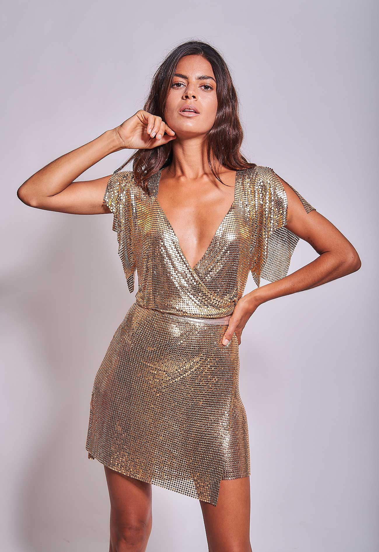 Aura Dress Gold