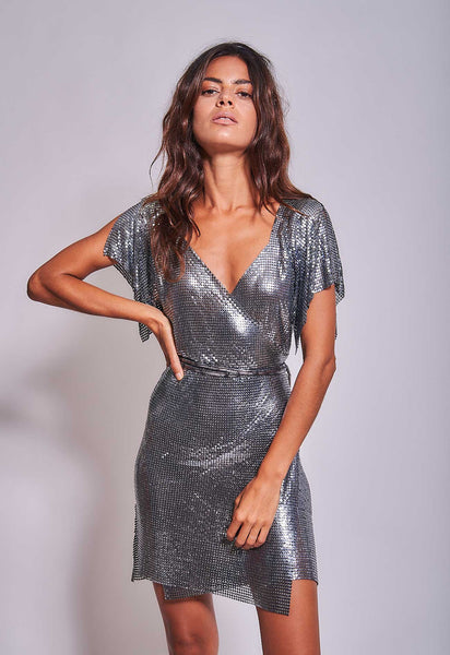 Aura Dress Gunmetal