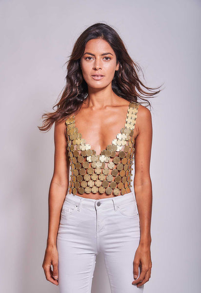 Disco Top Gold