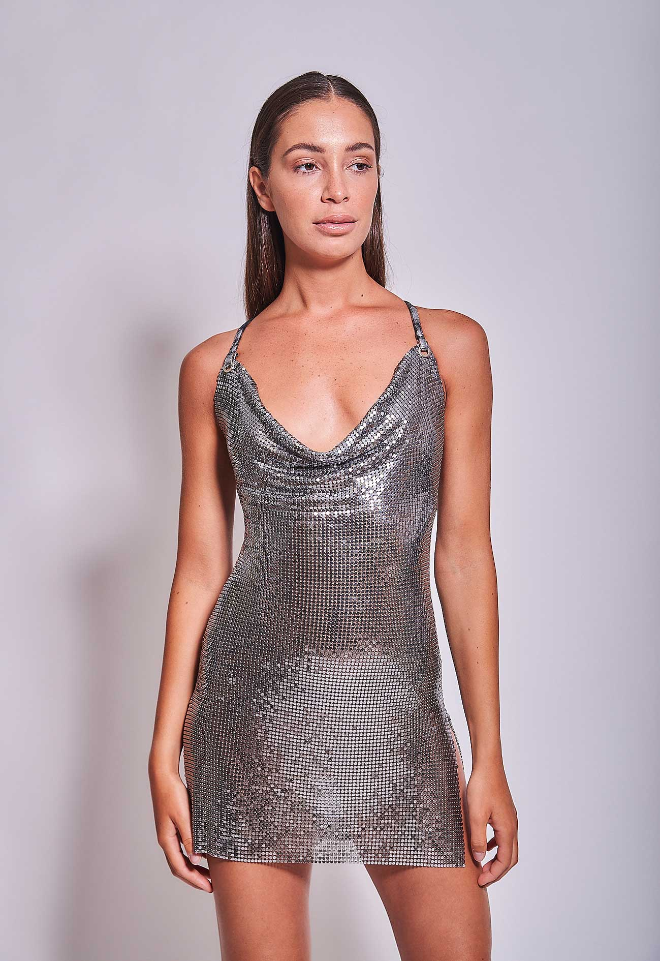 Diva Dress Gunmetal