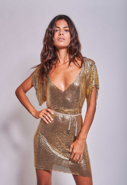 Gaia Dress Gold