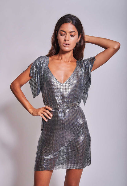 Gaia Dress Gunmetal