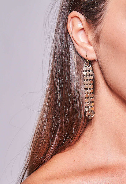 Mesh Earrings Gold Short