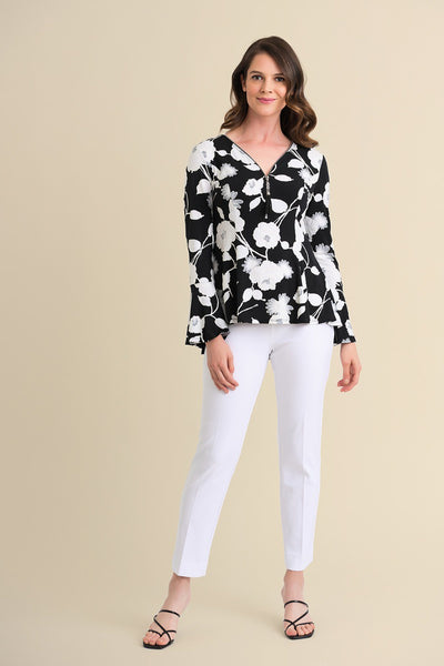Black/ Vanilla Floral Top / 211424