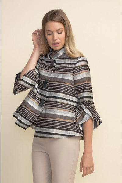 Black/Brown Stripe Jacket / 211409