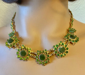 Jade and Peridot Necklace