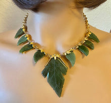 Load image into Gallery viewer, Jade Leaves Necklace