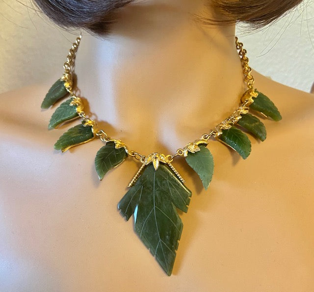 Jade Leaves Necklace