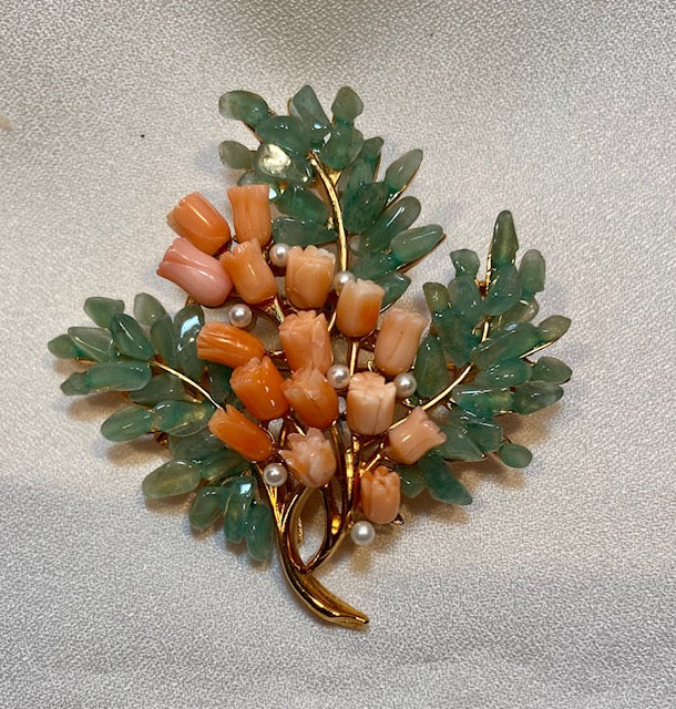 Coral, Aventurine and Pearl