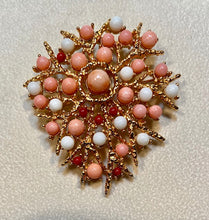 Load image into Gallery viewer, Coral Brooch