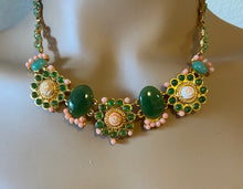 Load image into Gallery viewer, Coral, Jade and Peridot Necklace