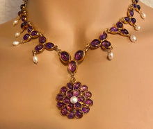 Load image into Gallery viewer, Amethyst and Fresh Water Pearl Necklace