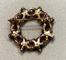 Load image into Gallery viewer, Amethyst and Peridot Brooch