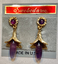 Load image into Gallery viewer, Amethyst Earring - Pierced
