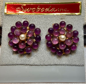 Amethyst and Water Pearl Earring