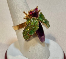 Load image into Gallery viewer, Amethyst and Peridot Ring