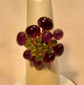 Amethyst and Peridot Ring